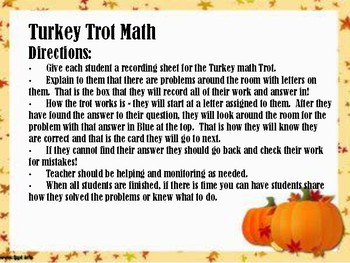 Thanksgiving Word Problems Rotations