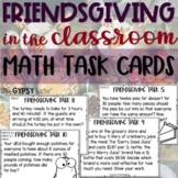 Thanksgiving Word Problems Task Cards - Friendsgiving Math
