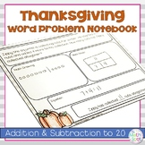 Thanksgiving Word Problems for Addition and Subtraction