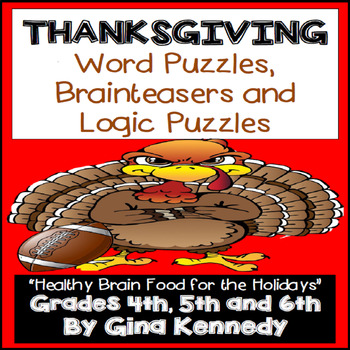 Thanksgiving Logic Puzzles, Word Puzzles, Brain Teasers and & More