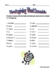 Thanksgiving Puzzle - Scrambled Words Vocabulary Activities