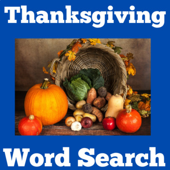 Thanksgiving Activity   Thanksgiving Word Search