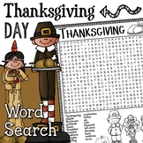 Thanksgiving Word Search Activity