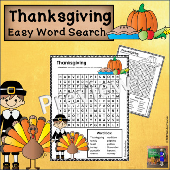 Thanksgiving Word Search *EASY