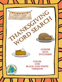 Thanksgiving Word Search Freebie