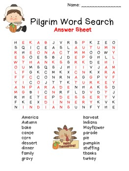 Thanksgiving Word Search - Hard