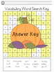 Thanksgiving Word Search Literacy Activity: Nursery Crimes