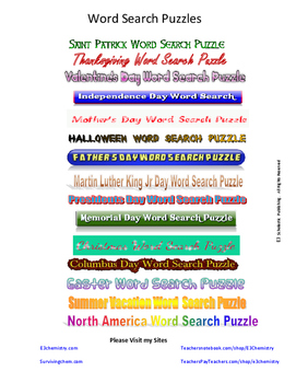 Thanksgiving Word Search Puzzle for Holiday Fun (Gr 3 - 12)