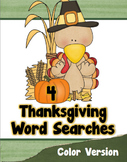 Thanksgiving Word Search Puzzles (Color)