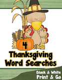 Thanksgiving Word Search Puzzles - PRINT & GO