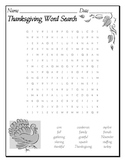 Thanksgiving Word Search - Something To Be Grateful For