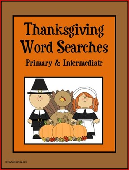Thanksgiving Word Searches - Primary & Intermediate