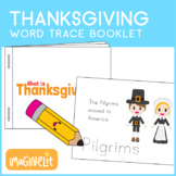 Thanksgiving Word Trace Coloring Booklet Activity