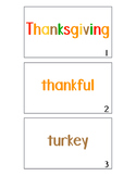 Thanksgiving Word Walk and Color Around the Room