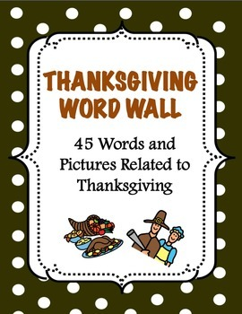Thanksgiving Word Wall