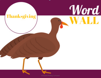 Thanksgiving: Word Wall