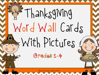 Thanksgiving - Word Wall Cards