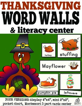 Thanksgiving Word Walls and Literacy Centers
