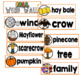 Thanksgiving Word Wall Cards Set