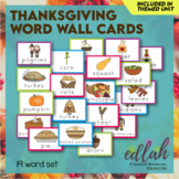 Thanksgiving Vocabulary Word Wall Cards (set of 19) - Full