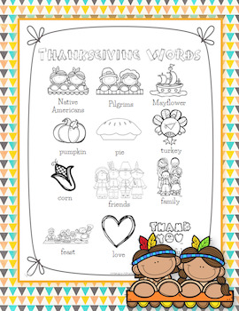Thanksgiving Word Wall for Daily 5 Writing Portfolios / Jo