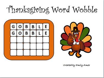 Free Thanksgiving Word Wobble Game (word search, PowerPoint, wordsearch)