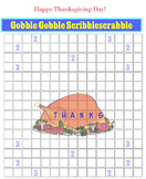 The Gobble Gobble Scribblescrabble (for English, French, S