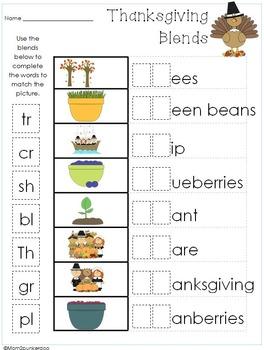 Thanksgiving Word Work Activities