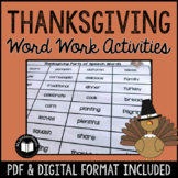 Thanksgiving Word Work & Literacy Activity Packet