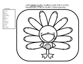 Thanksgiving Word Work Activity Pages