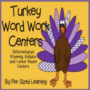 Thanksgiving Word Work Centers