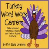 Thanksgiving Word Work Centers