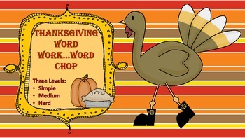 Thanksgiving Word Work /Differentiated Levels