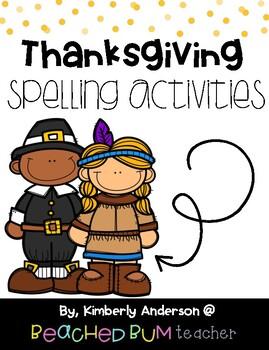 No Prep - Thanksgiving Word Work Fun - Word Study / Spelli