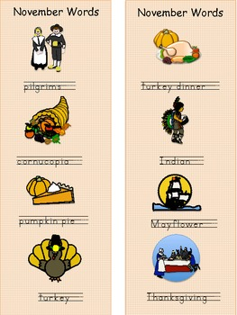 Thanksgiving Word Work Spelling and Writing Literacy Center Activities