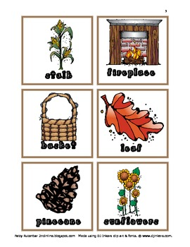 Thanksgiving Words ABC Order