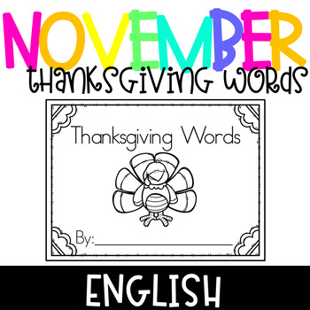 Thanksgiving Words Book
