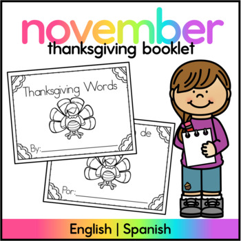 Thanksgiving Words Book - SPANISH