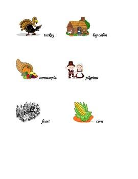 Thanksgiving Words Folder