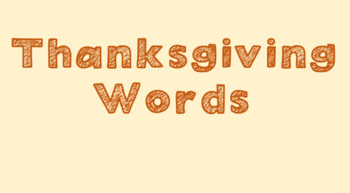 Thanksgiving Words PowerPoint
