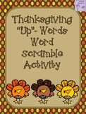 "Thanksgiving ""Up""-Words Word Scramble Activity"