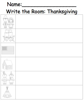 Thanksgiving Words Write the Room
