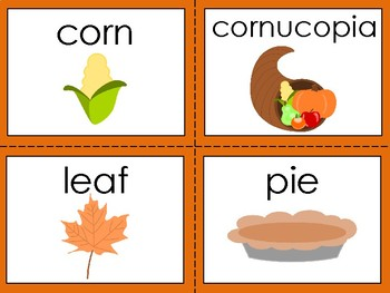 Thanksgiving Words Vocabulary Booklet