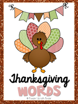 Mini Word Wall - Thanksgiving Themed