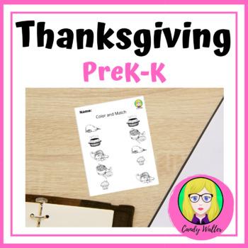 Thanksgiving Worksheet For PreK-K   Happy Thanksgiving !!
