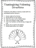 Thanksgiving Worksheet Pack NEW 2016-2017