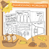 Thanksgiving Worksheets - 20 Pack
