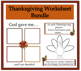 Thanksgiving Worksheets Bundle Pack