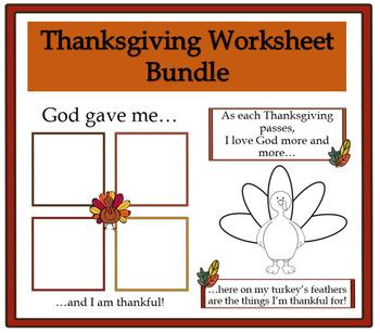 Thanksgiving Worksheets Bundle Pack