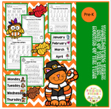 Thanksgiving Worksheets Days of the Week / Months of the Year